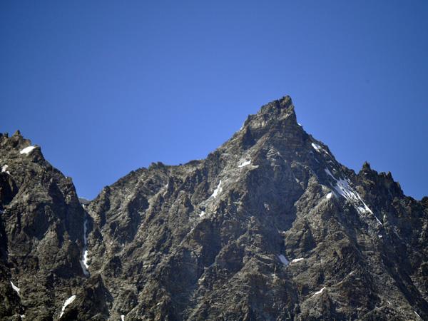 Région du Cervin (Matterhorn) côté italien, paysages des Alpes entre Cervinia-Breuil et Plateau Rosà, 21 août 2011.