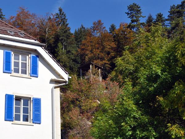Les Ponts-de-Martel, dans la vallée de la Sagne et des Ponts, Jura neuchâtelois, automne 2011.