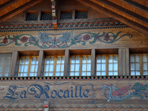 La célèbre station de Gstaad, au Saanenland (Gessenay), octobre 2011.