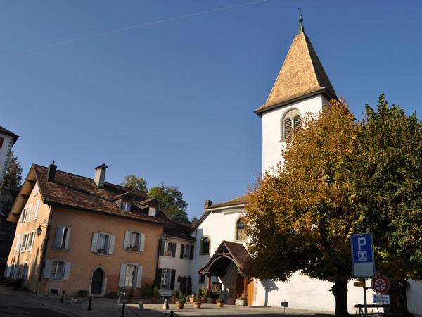La petite ville d'Aubonne, sur La Côte, octobre 2011.