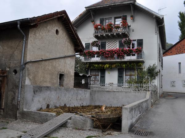Le village vigneron de Bursins, sur La Côte, octobre 2011.