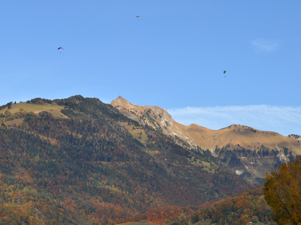Rochers-de-Naye, the mountain range high above Montreux.