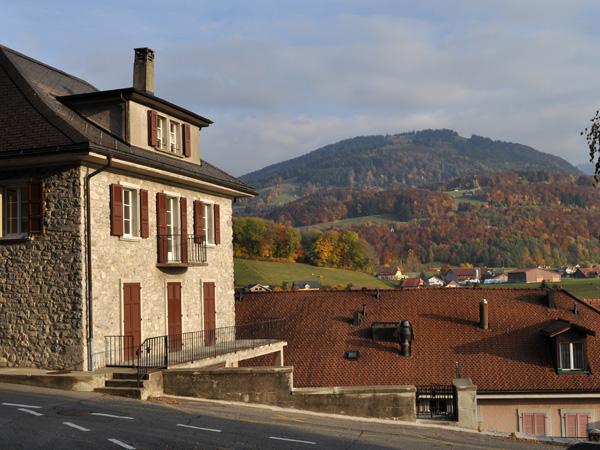Châtel-St-Denis, chef-lieu de la Veveyse, octobre 2011.