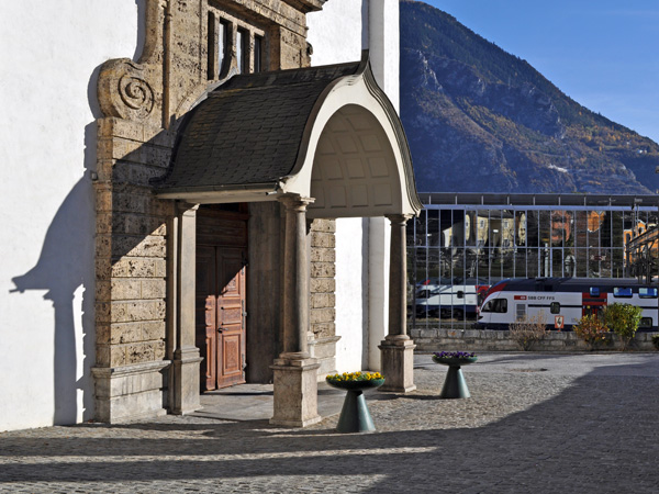 Sierre, capitale suisse du vin, novembre 2011.