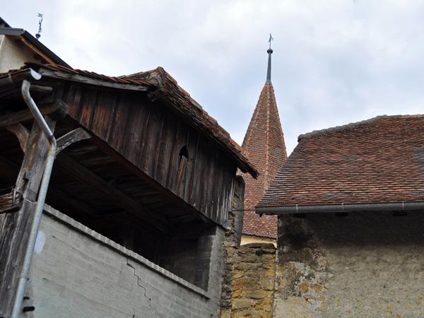 Région des Trois-Lacs: cité fortifiée du Landeron, près du lac de Bienne, novembre 2011.