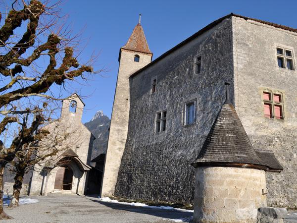 Château de Gruyères, mars 2012.