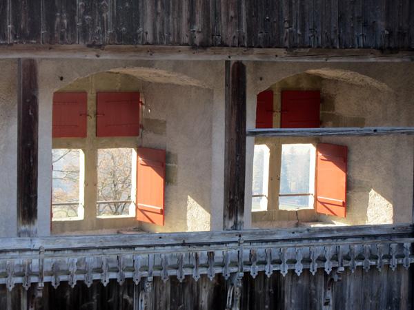 Visite du Château de Gruyères, mars 2012.