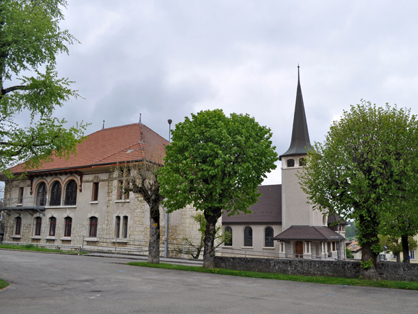 Saignelégier, heart of the Franches-Montagnes, a district of the Swiss Jura, May 2012.