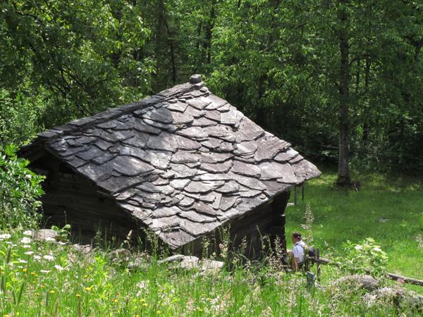 Reportage photo à Ballenberg, Musée suisse de l'habitat rural, près de Brienz (Oberland bernois), mai 2012.