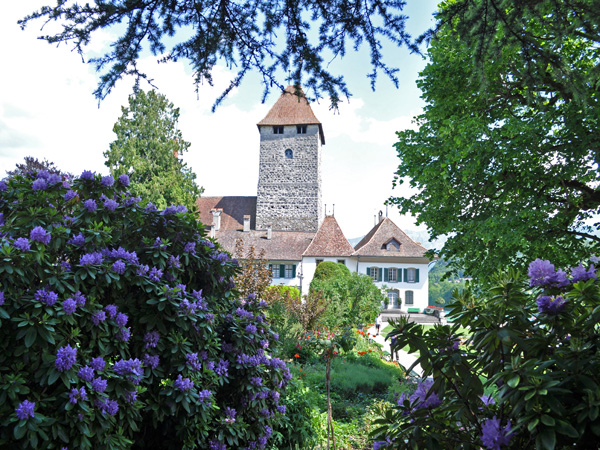 Spiez, une jolie petite cité de l'Oberland bernois située au bord du lac de Thoune, mai 2012.