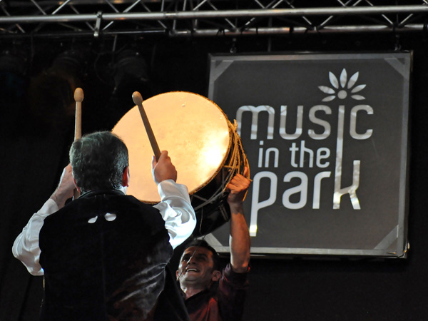 Montreux Jazz Festival 2012: Natiq Rhythm Band, July 9, Music in the Park. Naghara drums band from Azerbaijan.