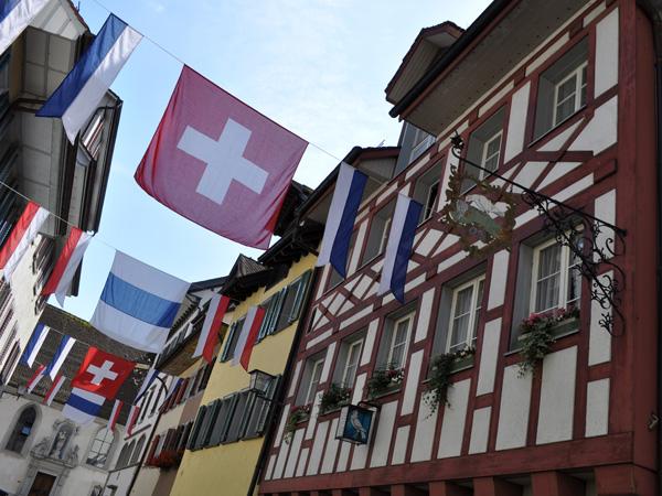 Town of Zug, July 2012. Ville de Zoug, juillet 2012.