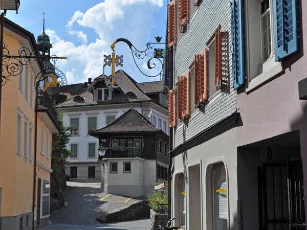 Stans, capital of Nidwalden, July 2012. Stans, chef-lieu du Canton de Nidwald, juillet 2012.