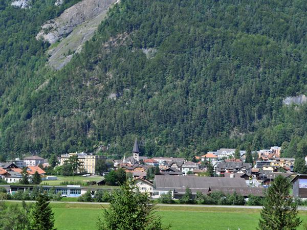 Balade à Meiringen et aux chutes de Reichenbach, dans l'Oberland bernois, août 2012.