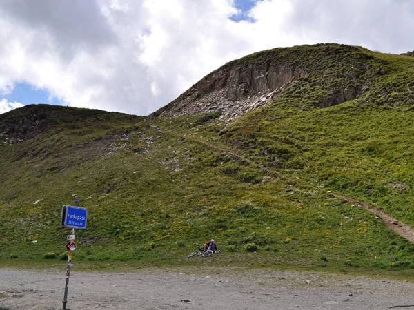 Paysage du col de la Furka, août 2012. Au sommet du col.