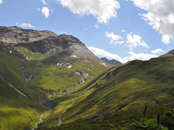 Paysage du col de la Furka, août 2012. Côté Uri.