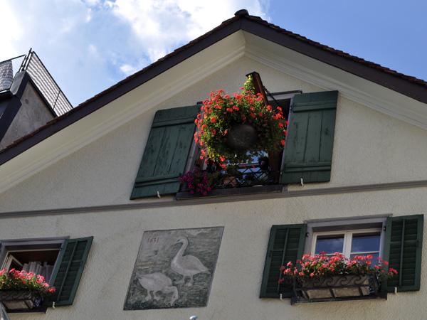 Chur (Coire), capital of Grischun (Graubünden), in Southeastern Switzerland, August 2012.