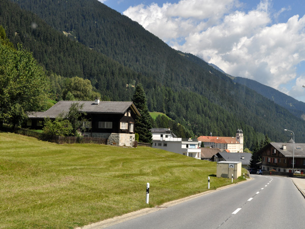 Disentis/Mustér, in Surselva, a Romansh-speaking region of Grischun (Graubünden), in Southeastern Switzerland, August 2012.
