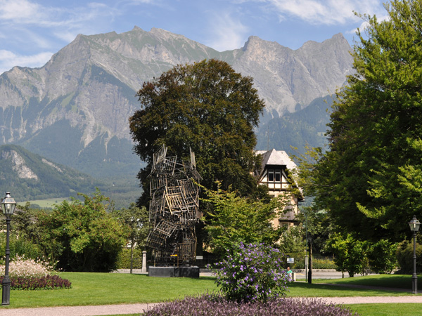 Bad Ragaz, at the Southern end of Canton of St. Gallen, August 2012.
