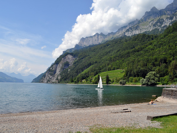 Walensee, Canton of St. Gallen, August 2012.