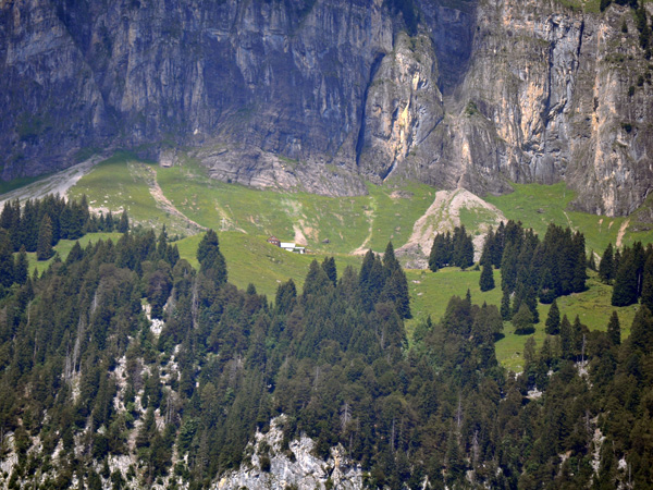 Over Walensee, on the slopes of the Churfirsten mountain range, Canton of St. Gallen, August 2012.