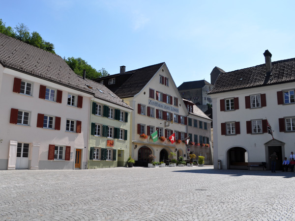 Sargans, at the Southern end of Canton of St. Gallen, August 2012.