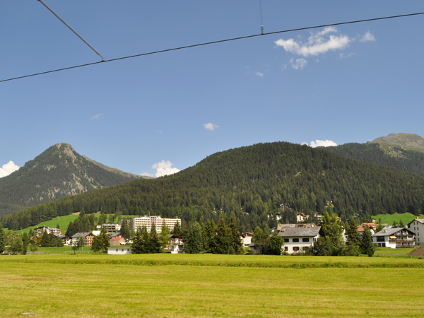 Davos, in Grischun (Graubünden), Southeastern Switzerland, August 2012.