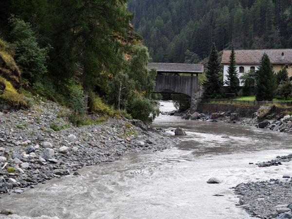 Susch, in Lower Engadin, in Grischun (Graubünden), August 2012.
