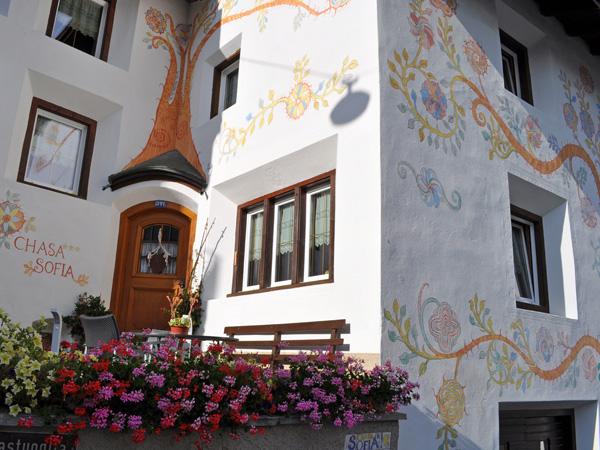 Scuol, main city of Lower Engadin, in Grischun (Graubünden), August 2012.