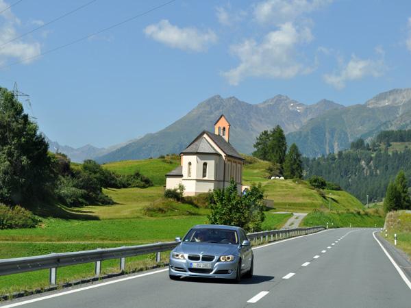 Near Ardez, in Lower Engadin, in Grischun (Graubünden), August 2012.