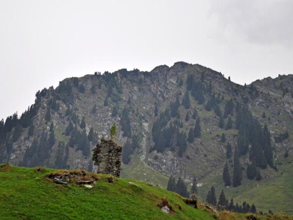 Val Bregaglia, down the Maloja Pass, Grischun (Graubünden), August 2012.