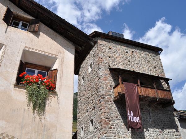 Samedan, capital of Upper Engadin, in Grischun (Graubünden), August 2012.