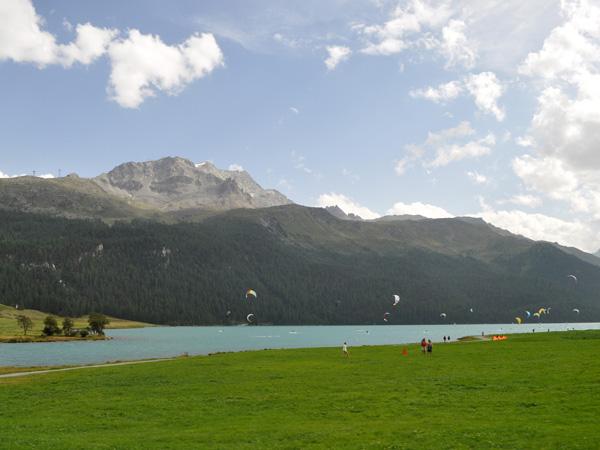 Silvaplana, in Upper Engadin, Grischun (Graubünden), August 2012.