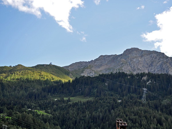Airolo, Upper Leventina Valley (Ticino), southern end of the St. Gotthard Pass, August 2012.