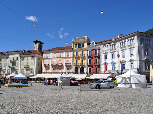 Locarno, in Ticino (Tessin), on the shores of Lago Maggiore, August 2012.