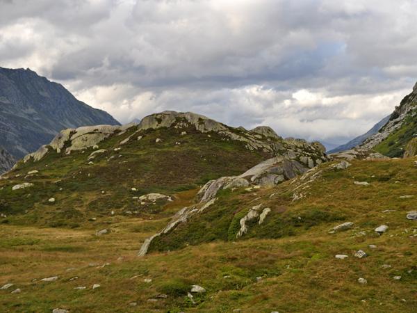 Landscape of St. Gotthard Pass, August 2012. Paysage du col du St-Gothard, août 2012.