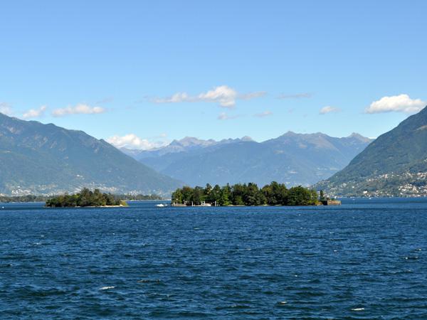 Brissago, in Ticino (Tessin), on the shores of Lago Maggiore, August 2012.