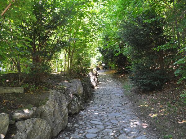 The legend of William Tell: Hohle Gasse (Hollow Way - Chemin Creux), Küssnacht am Rigi, Central Switzerland, August 2012.