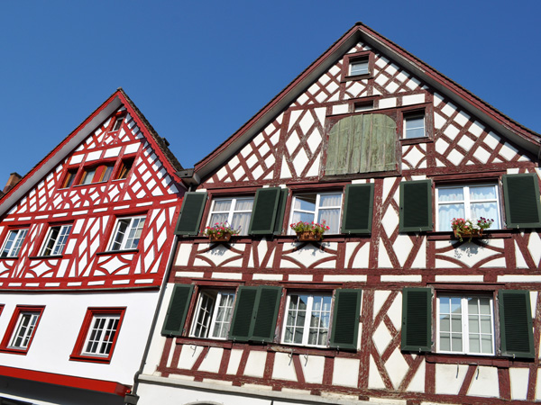 Steckborn, Lake Constance (Bodensee), Eastern Switzerland, September 2012.