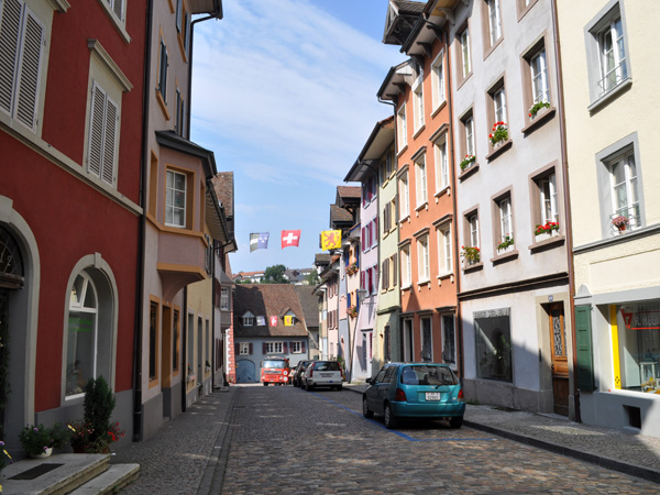 Laufenburg, on the Rhine River, September 2012. A little city split in two, one half in Switzerland, the other half in Germany.
