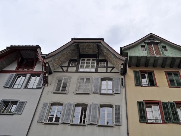 A dark and cloudy day in Aarau, Northern Switzerland, September 2012.