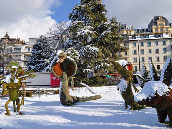 Montreux, Swiss Riviera, January 2013.