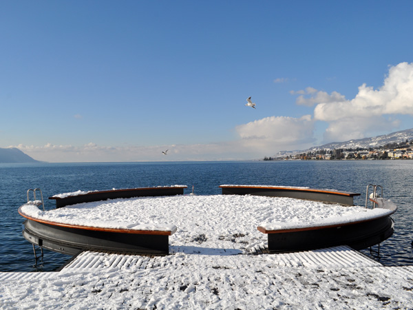 Montreux, Swiss Riviera, January 2013.