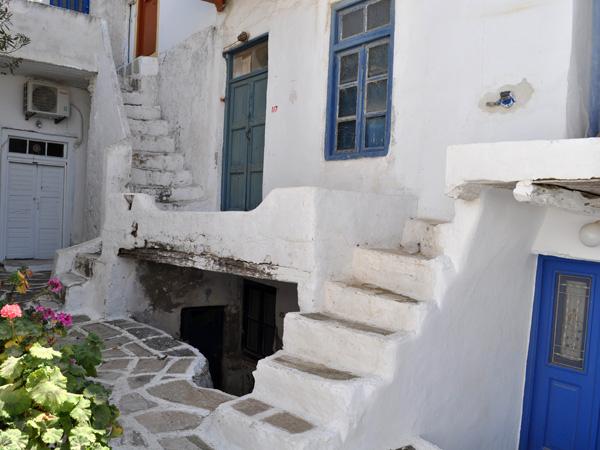 Au village d'Antiparos, Cyclades, avril 2013.