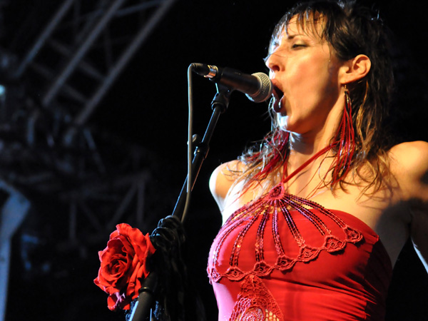 Montreux Jazz Festival 2013: Patricia Vonne (USA - Latin Rock), July 9, Music in the Park.