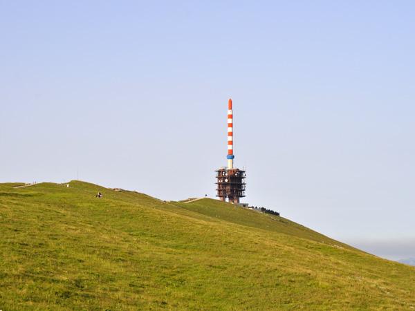 Chasseral, au-dessus du lac de Bienne. Jura bernois, août 2013.