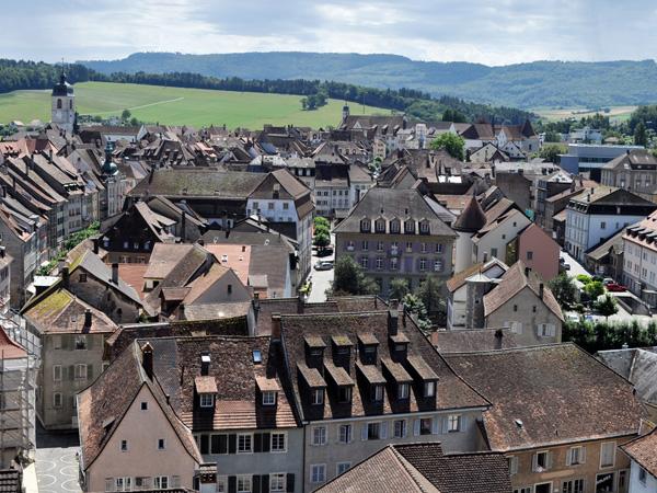 Porrentruy, Canton du Jura, août 2013.