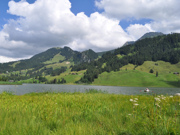 Schwarzsee (Lac Noir), at the source of the Sense River (Singine), August 2013.