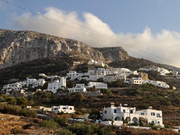 Potamos, au-dessus d'Eghiali, Amorgos (Cyclades), août 2013.