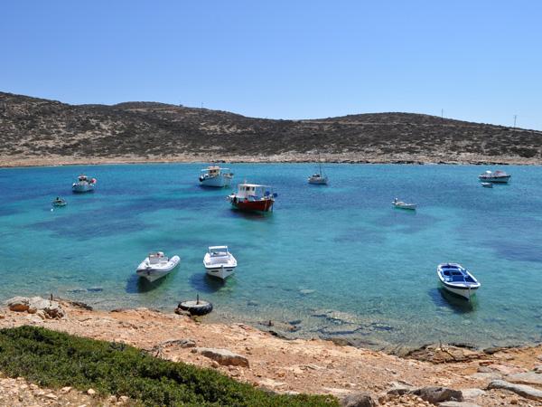 Kalotaritissa Bay, Amorgos (Cyclades), août 2013.